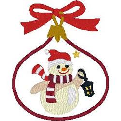 Snowman Ornament embroidery design