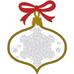 Snowflake Applique embroidery design
