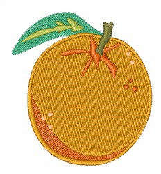 Orange embroidery design