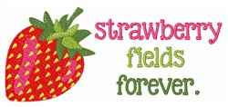 Strawberry Fields Forever embroidery design