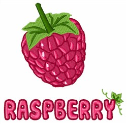 Raspberry Fruit embroidery design