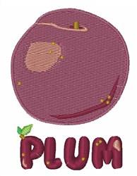 Plum embroidery design