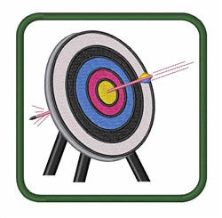 Target Archery embroidery design