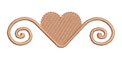 Wedding Heart embroidery design