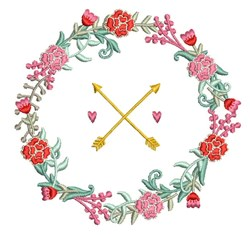 Wedding Wreath embroidery design