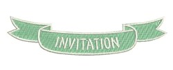 Invitation Banner embroidery design