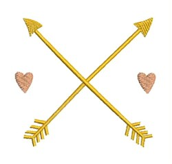 Hearts & Arrows embroidery design