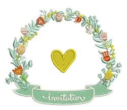 Invitation Wreath embroidery design