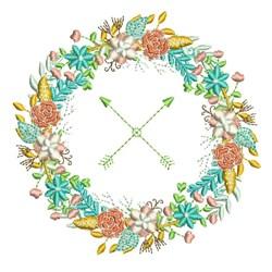 Arrow Wreath embroidery design