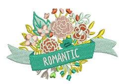 Romantic Floral embroidery design