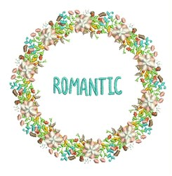 Romantic Wreath embroidery design