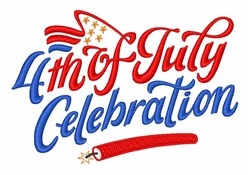 4th Of July Celebration embroidery design
