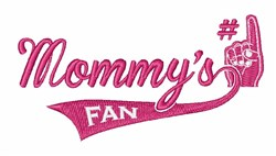 Mommys Fan embroidery design