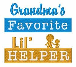 Grandmas Helper embroidery design
