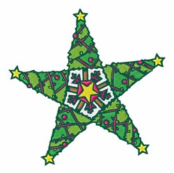 Christmas Tree Star embroidery design