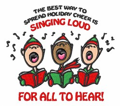 Christmas Carolers embroidery design