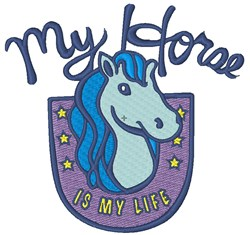 My Horse Is My Life embroidery design
