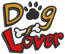 Dog Lover embroidery design
