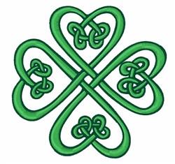 Celtic Shamrock embroidery design
