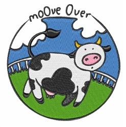 Moove Over embroidery design
