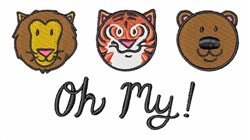 Oh My! embroidery design