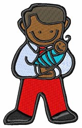 Dad & Baby embroidery design