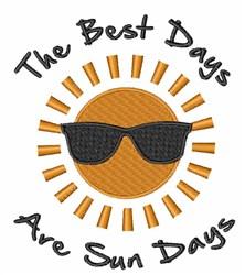Sun Days embroidery design