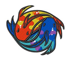 Yin Yang Fish embroidery design