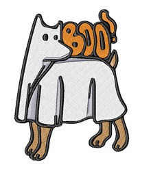 Ghost Dog embroidery design