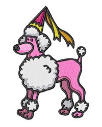 Poodle Princess embroidery design