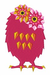 Abstract Owl embroidery design