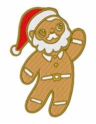Gingerbread Santa embroidery design