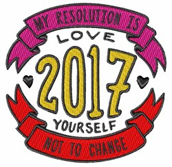Love Yourself Resolution embroidery design