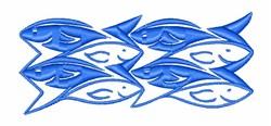 School Of Fish embroidery design