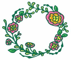 Flower Ring embroidery design