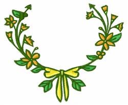 Flower Garland embroidery design