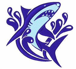 Blue Shark embroidery design