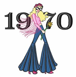 1970 Woman embroidery design