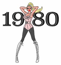 1980 Woman embroidery design