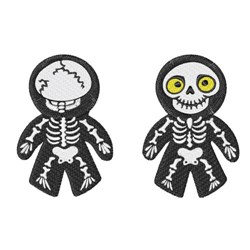 Skeleton Doll embroidery design