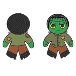 Frankenstein Doll embroidery design