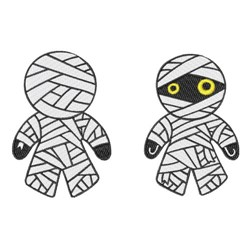 Mummy Doll embroidery design