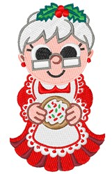 Mrs Claus embroidery design