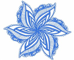 Swirl Star Mandala embroidery design