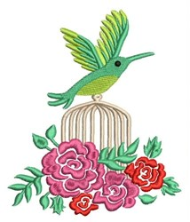 Hummingbird Flowers embroidery design