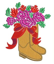 Floral Boots embroidery design