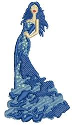 High Fashion Lady embroidery design