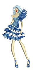 Party Dress Model embroidery design