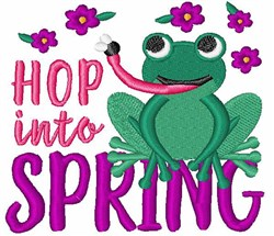 Hop Into Spring embroidery design