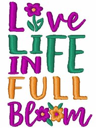 Life In Full Bloom embroidery design